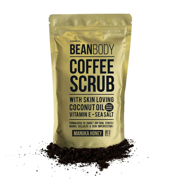 Hotselling BeanBody Manuka Honey Coffee Scrub Coconut Oil Remove dead skin Body