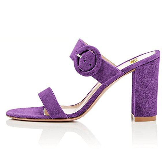 1e2ceebbf633 ... Original Intention Stylish Women Sandals Open Toe Square Heels Sandals  Black Red Purple Shoes Woman Plus ...