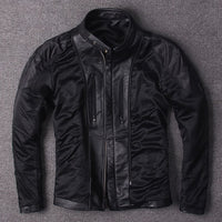 Free shipping.plus Eur size classic men cow leather Jackets men's genuine Leather biker jacket.Brand