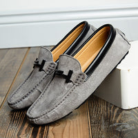 Summer Mens Loafers Suede Leather Luxury Brand Top Men's Casual Shoes Slip On Boat Shoes For Men Moccasins Chaussure Homme 38-44