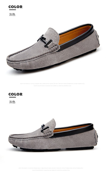 00001d65908c4 ... Summer Mens Loafers Suede Leather Luxury Brand Top Men's Casual Shoes  Slip On Boat Shoes For ...