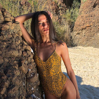 New Leopard Bodysuit Beach wear Swim Women's Swimsuits Biquinis Bathing Suit Sexy Swimwear Female One Piece Suits Swimming Suit