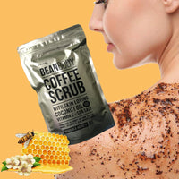 Australia BeanBody Manuka Honey Coffee Scrub Coconut Man Remove dead skin Body Treatment for Rough skin Stretch marks Cellulite