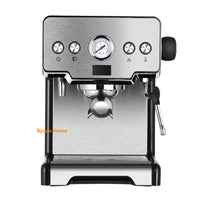 Newest stainless steel 15 bar household coffee machine with milk frother cappuccino espresso coffee semi-automatic coffee maker