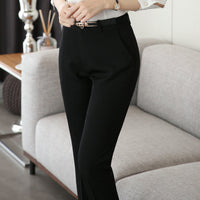 Plus Size Formal Pants for Women Office Lady Style Work Wear Straight Trousers Female Clothing Business Pantalon Femme Pantalon