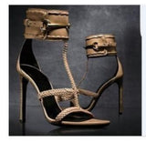 2018 New sexy club party dress shoes women patent leather buckle straps gladiator sandals super high heels sandal boots