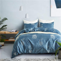 Luxury Polyester blue duvet cover set US King/Queen/Twin 3pcs/set duvet quilt cover bedding set children adulte edredon nordico