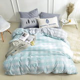 Cotton Bed Fitted Sheet Set 2 sizes with duvet cover Nordic simple printed bedding bedsheet sets 4pcs sabanas cama matrimonio
