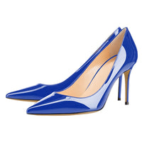 Salu Classic women high heels nude white blue pointed toe stiletto pumps women party wedding shoes big size 43 44 45