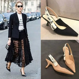 women high heel shoes pumps sandal brand shoes nude black pather leather wedding shoes fashion lady high heel sandal 34-40