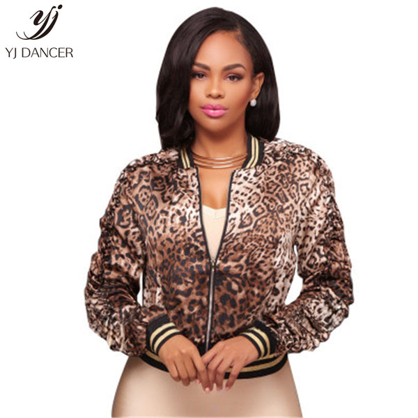 Women's Jacket Casual 2018 Fashion New High quality Temperament Spring And Autumn Thin Long Sleeve Printed Leopard Coat H069
