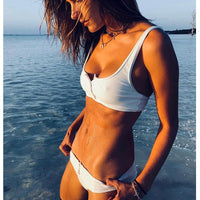 Sexy Bandage Bathing Suits Bikinis 2018 Swimwear Women Swimsuit Solid Biquini Maillot De Bain Bikini Set Swimming suit for women