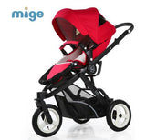 Mige baby stroller high landscape baby stroller newborn can sit reclining folding baby children cart