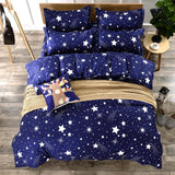 3D Bedding Sets Star/clouds Duvet Cover Blue White Grey Bedlinen set Single Full Queen King Size Girl Boys Geometric Linens