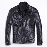 Free shipping classic style,Plus size soft sheepskin leather Jacket, men's genuine Leather jacket.man biker's slim coat