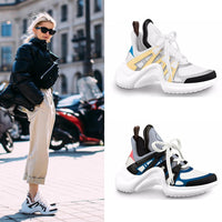 GGOB  Casual Shoes Ladies Womens Flats Genuine Leather Outdoor Walking Women Loafers Plus Size Sneakers Brand Flat With 2018