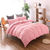 Pure Color Bed Set quilt Cover School Hotel Duvet Cover cotton Home Textiles Warm pillowcase Bedding Set high quality Home Decor