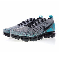 Nike Air Vapormax Flyknit 2.0 Men's Running Shoes, Shock Absorption Breathable Lightweight Non-slip, Gray & Blue 942842 104