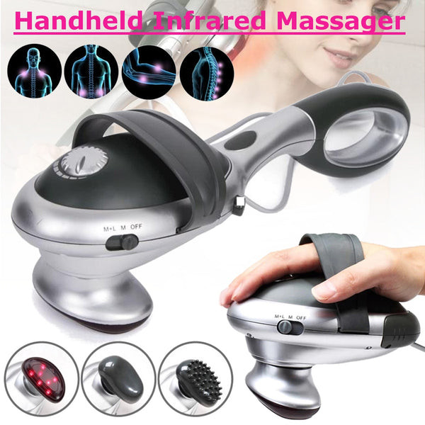 Handheld Electric Body Heated Massager stick Infrared Body neck Back massage waist cervical massager Massager Hammer Vibration