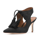 Original Intention Super Elegant Women Sandals Nice Pointed Toe Thin Heels Sandals Black Blue Red Shoes Woman Plus US Size 4-15