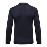 Sweater wool men's new Fashion printing warm casual commerce comfort zipper fitness gentleman big M-6XL free shipping
