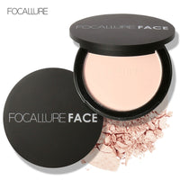 Focallure Long Lasting Pressed Powder Oil-Control Contour Concealer Cover Mineral Foundation Nude Compact Powder Face Cosmetic
