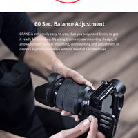 ZHIYUN Crane V2, 3-Axis Gimbal Stabilizer for Mirrorless Camera and DSLR for Sony A7 Panasonic LUMIX Nikon J Canon PK Hohemn