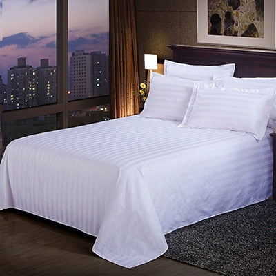 White Bedding Sheet Home Hotel Decor Solid Color Flat Sheets Combed Cotton Bed Sheet Bedding Linen King Queen Flat bed sheet