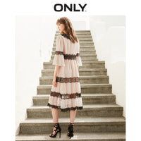 ONLY 2019 Spring Summer New Laced Chiffon Dress |119107681