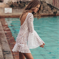 2019 Women Summer Dress Bohemian Sexy Party Night Club Dresses Backless Beach Mini Dress