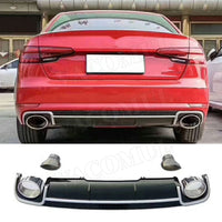 FREE TNT SHIPPING 15 Days PP body kit car auto front bumper Rear diffuser exhaust pipes racing grills for Audi A4 RS4 2016 2017 2018