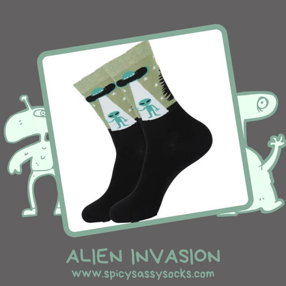 Alien Invasion - Spicy Sassy Socks