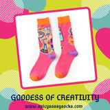 Goddess of Creativity - Spicy Sassy Socks