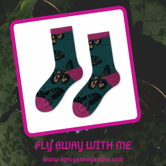 Fly Away With Me - Spicy Sassy Socks
