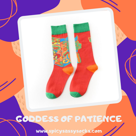 Goddess of Patience - Spicy Sassy Socks