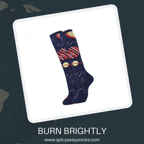 Burn Brightly - Spicy Sassy Socks