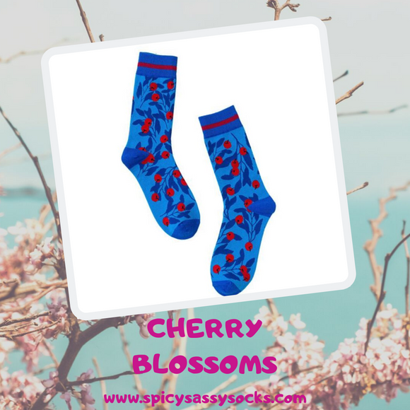 Cherry Blossoms - Spicy Sassy Socks