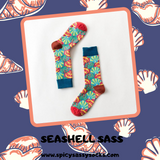 Seashell Sass - Spicy Sassy Socks