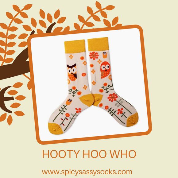 Hooty Hoot Who - Spicy Sassy Socks