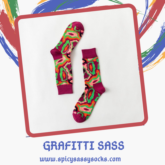 Graffiti Sass - Spicy Sassy Socks