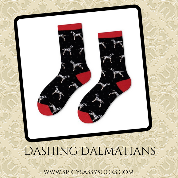 Dashing Dalmatians - Spicy Sassy Socks