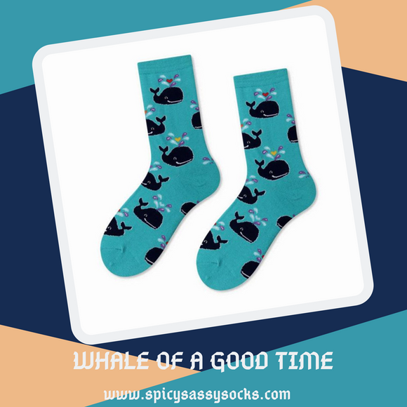 Whale of a Good Time - Spicy Sassy Socks