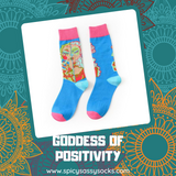 Goddess of Positivity - Spicy Sassy Socks