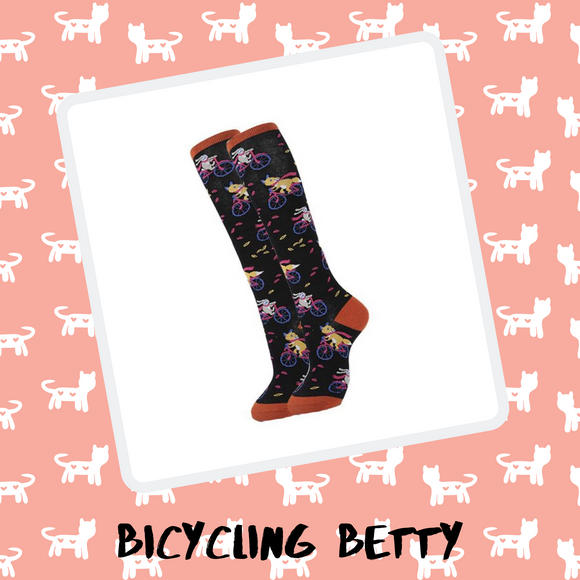Bicycling Betty - Spicy Sassy Socks