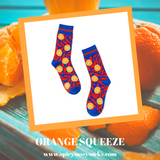 Orange Squeeze - Spicy Sassy Socks