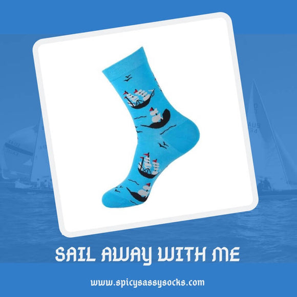 Sail Away Spice - Spicy Sassy Socks