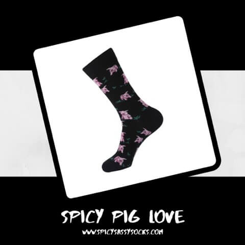 Spicy Pig Love - Spicy Sassy Socks