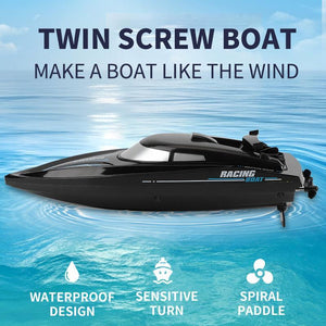 Remote Control Boat 2.4G High Speed Twin Screw RC Boats For Kids
