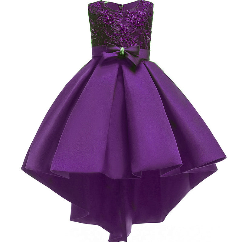 Little Girls Beading Birthday Prom Party Dresses