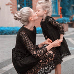 Mommy and Me Dresses Mother Daughter Lace Dress Wedding Party Ceremony Dress